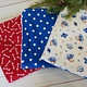 Hilltop Baby and More Cotton Burp Cloths - Red/Blue Trio