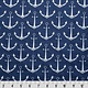 Hilltop Baby and More Swaddle Blanket - Navy Anchors