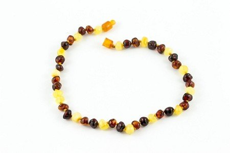 "Healing Hazel Baltic Amber 11"" Teething Necklace - Polished Multicolor"