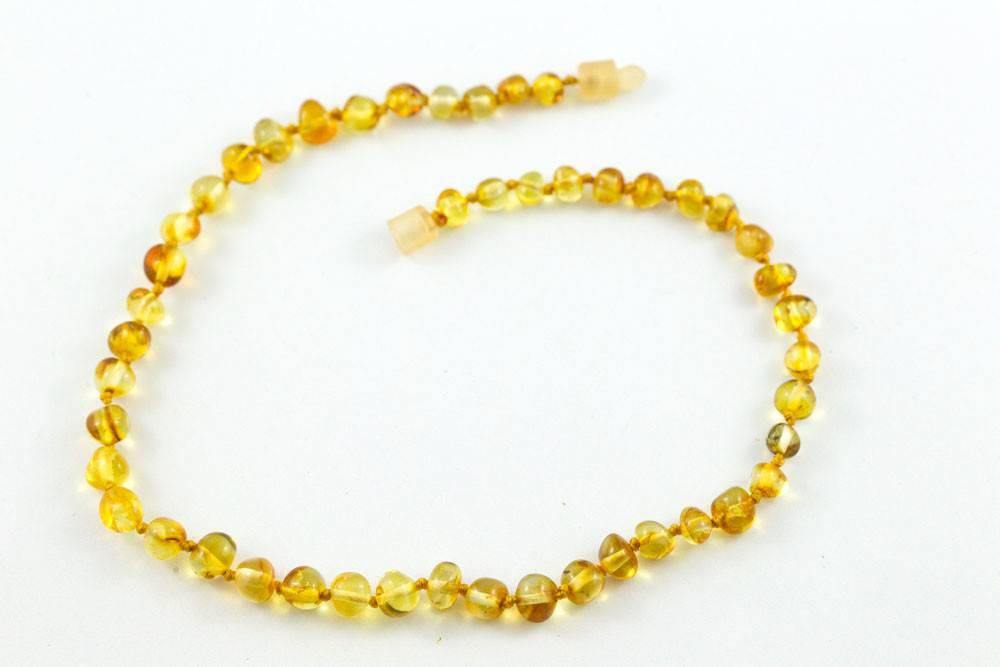 "Healing Hazel Baltic Amber 11"" Teething Necklace - Polished Honey"