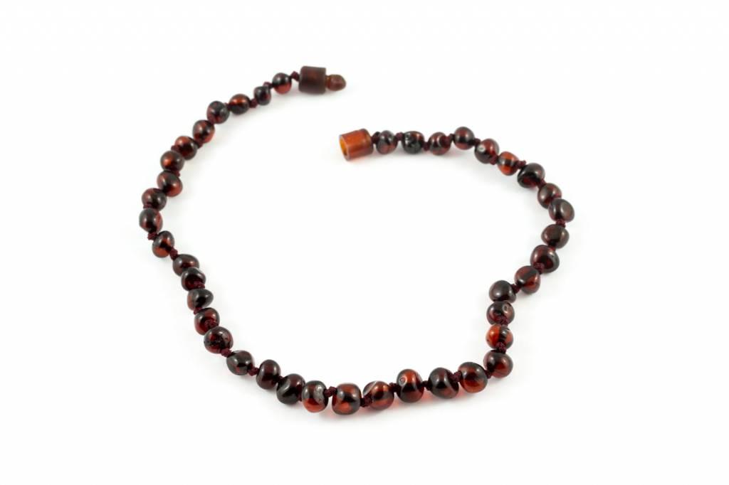 "Healing Hazel Baltic Amber 12.5"" Teething Necklace - Polished Cherry"