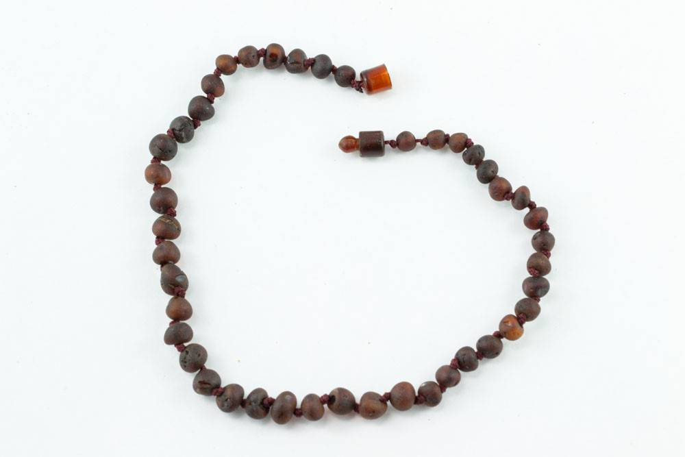 "Healing Hazel Baltic Amber 11"" Teething Necklace - Raw Cherry"