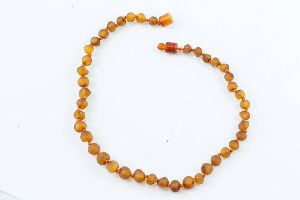 "Healing Hazel Baltic Amber 11"" Teething Necklace - Raw Cognac"
