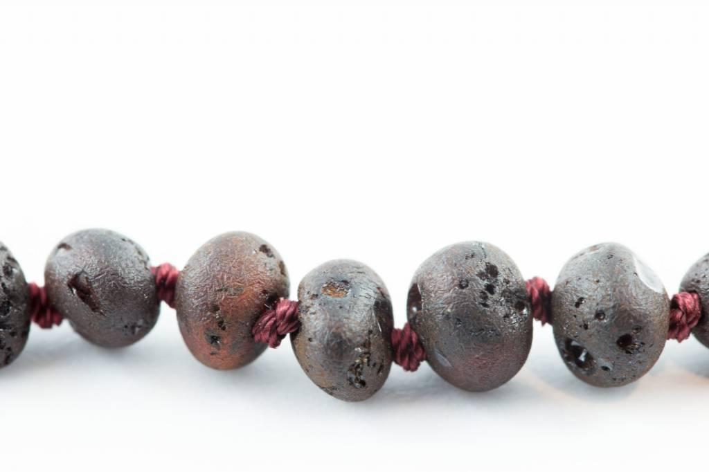 "Healing Hazel Baltic Amber 12.5"" Teething Necklace - Raw Cherry"