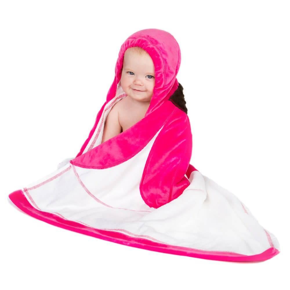 Blooming baby towel pink