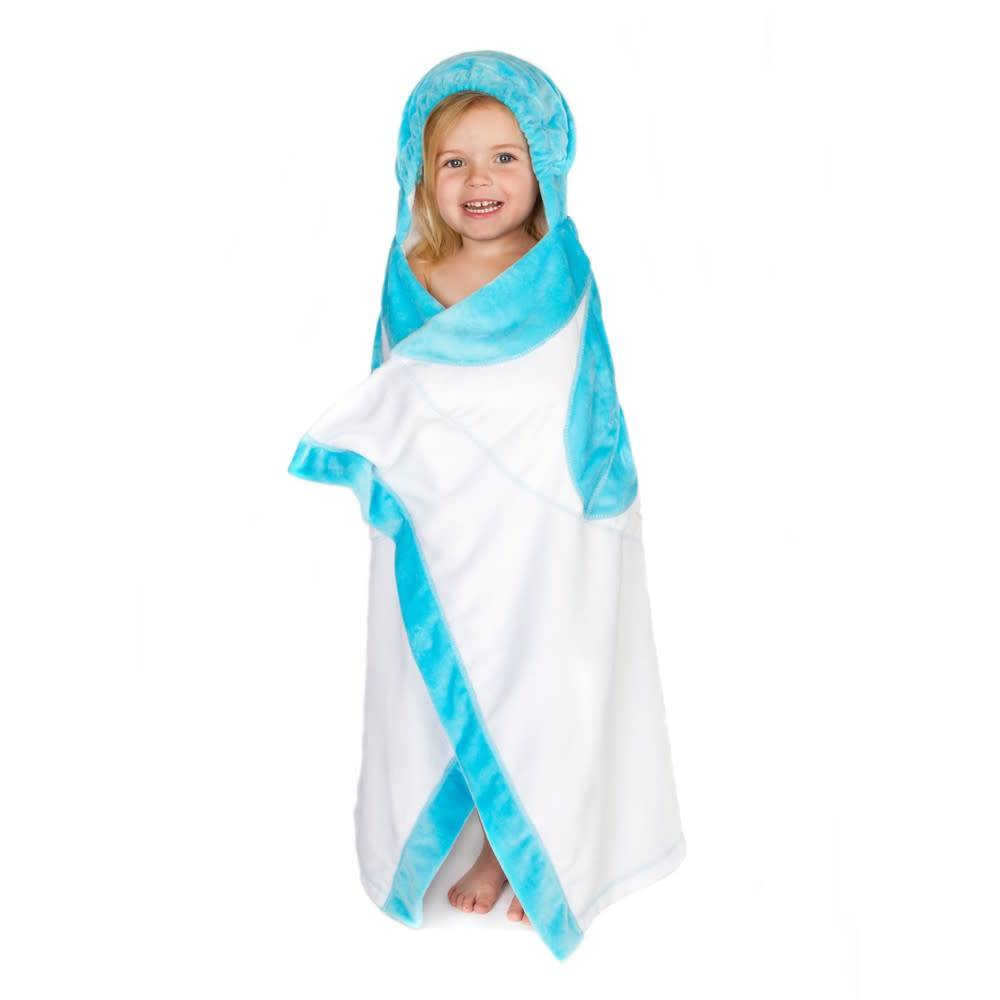 Blooming baby towel turquoise