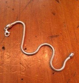 Dayna U Wholesale Sterling Silver Snake Chain Bracelet