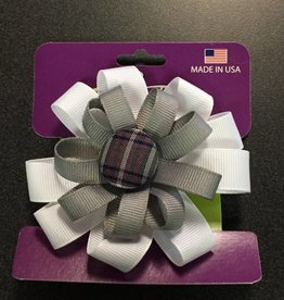 Eduacational Outfitters Educational Outfitters 92 Button Bow Plaid Barrette