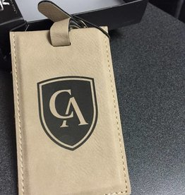 LXG Luggage tag in velour leather