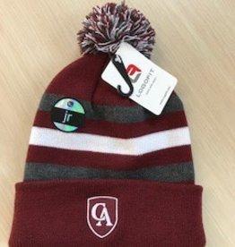 LogoFit Logofit Striped knit cuff hat with pom pom