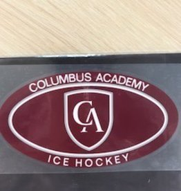 Colorshock Colorshock Ice Hockey Car Stickers-Oval