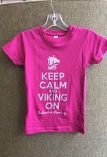 Girls Keep Calm and Viking On tshirt