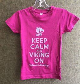 Girls Keep Calm and Viking On tshirt