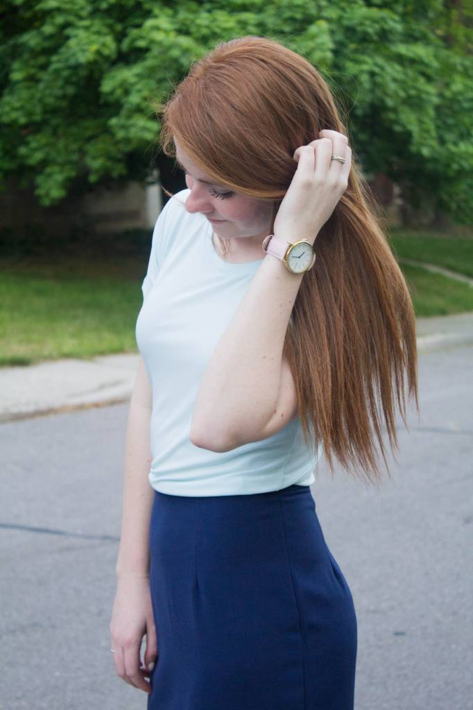 Drop-Neck Knit Top