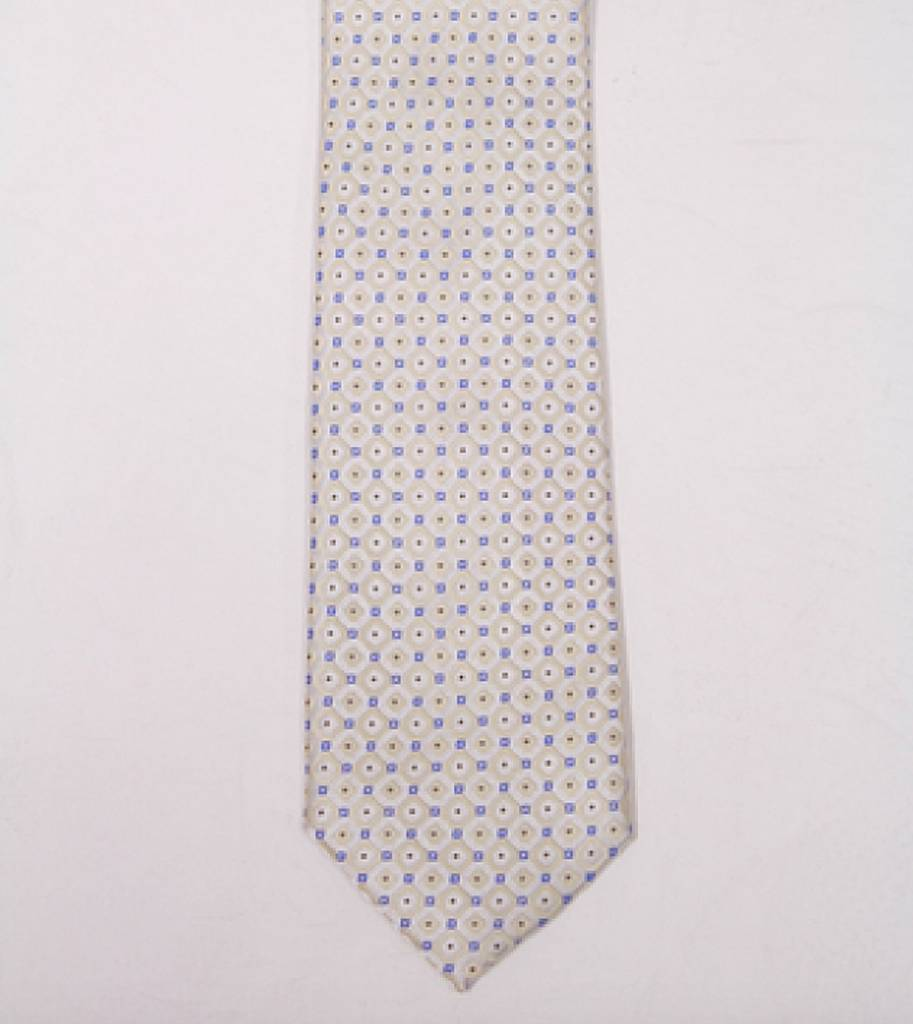 Robbins & Brooks Polyester Pocket Tie- Checked Design with Dots