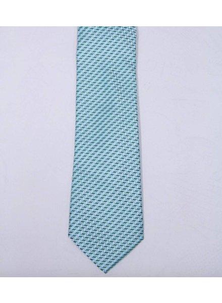 Robbins & Brooks Polyester Pocket Tie- Green Stripes