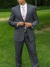 Robbins & Brooks Robbins & Brooks 2-Pant Polyester Wool Blend Suit for Missionaries