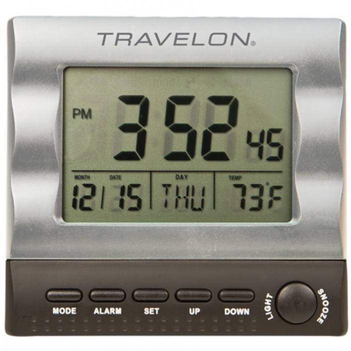 Travelon Large Display Alarm Clock