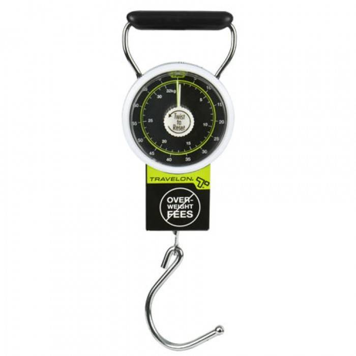 Travelon Stop & Lock Luggage Scale with Tape