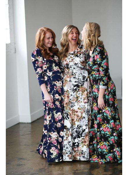 Edyn Clothing Co. Amanda Floral Maxi Dress