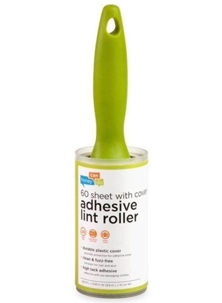 60-Sheet Adhesive Lint Roller with Cover