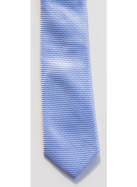 Robbins & Brooks Polyester Pocket Tie- Blue & Grey Stripes