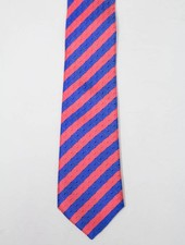 Robbins & Brooks Polyester Pocket Tie- Red & Blue with Checked Pattern
