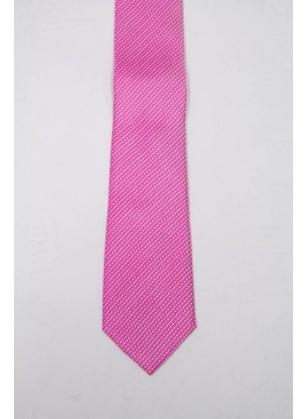 Robbins & Brooks Polyester Pocket Tie- Pink & White Stripes