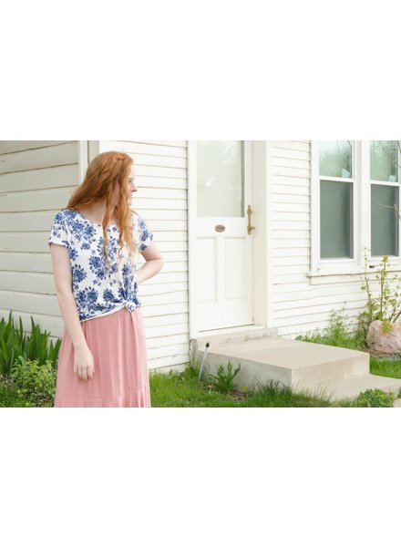 Floral Dolman Sleeve Tunic Top