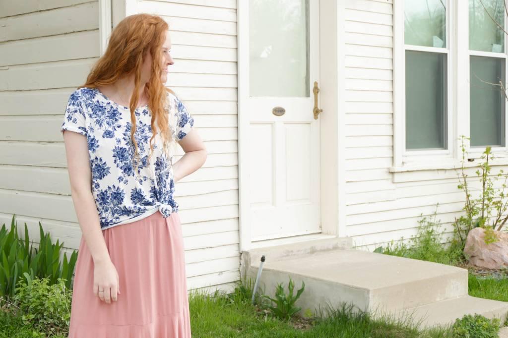 Floral Dolman Sleeve Tunic Top