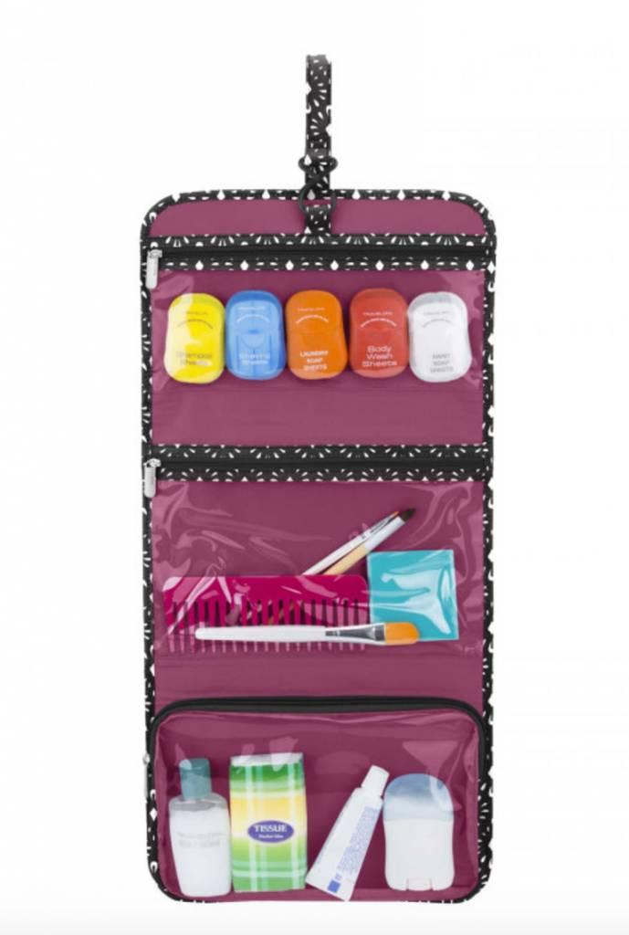 Travelon Boho Trifold Hanging Toiletry Kit