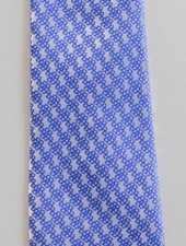 Robbins & Brooks Polyester Pocket Tie- Light Grey Design with Cyan Pattern