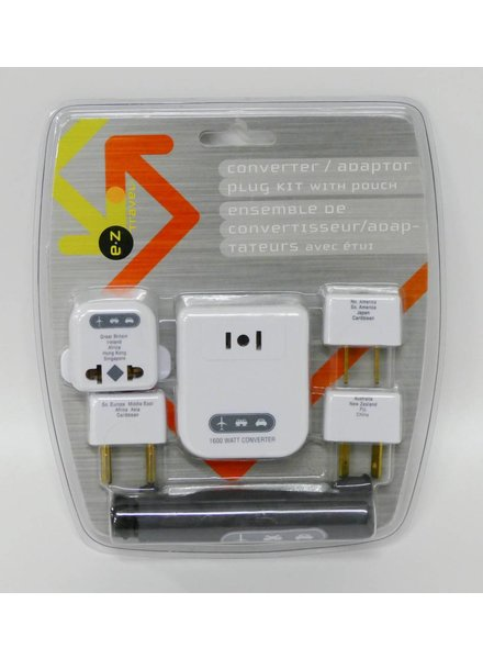 Converter/Adaptor Plug Kit with Pouch