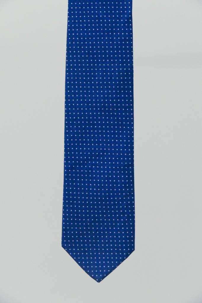 Robbins & Brooks Cotton Tie- Claret Design w/ Small White Dots