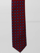 Robbins & Brooks Cotton Tie- Red Design w/ Small Navy Flower