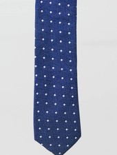 Robbins & Brooks Cotton Tie- Navy Design w/ Big White Dots