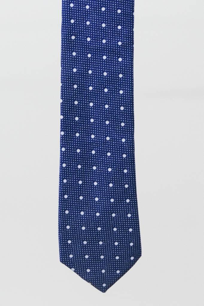 Robbins & Brooks Cotton Tie- Navy Design w/ Big White Dots