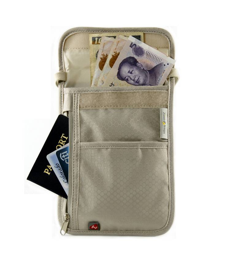 ZionBags RFID Security Neck Wallet