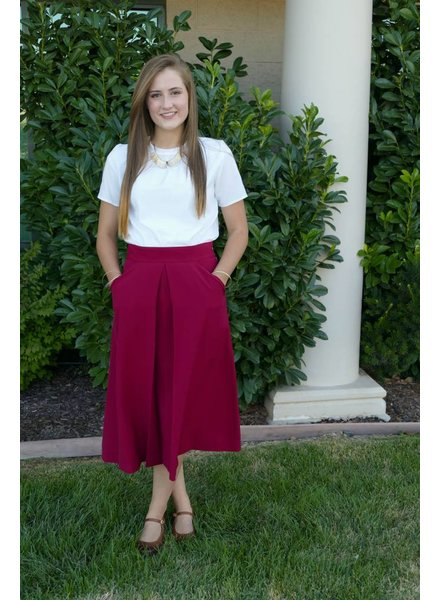 Edyn Clothing Co. Box Pleat Skirt