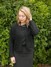 Shawl Collar Open Front Cardigan
