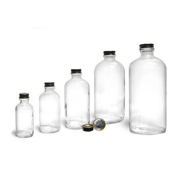 Clear Glass Boston Round, 32 oz.
