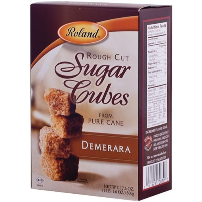 Roland Demerara Rough Cut Sugar Cubes, 17.6oz