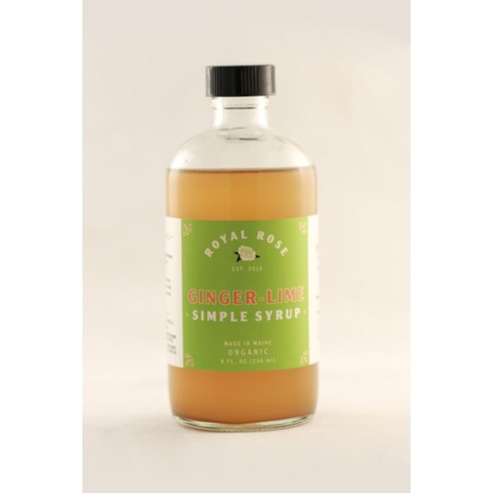 Royal Rose Ginger Lime Syrup, 8 oz.