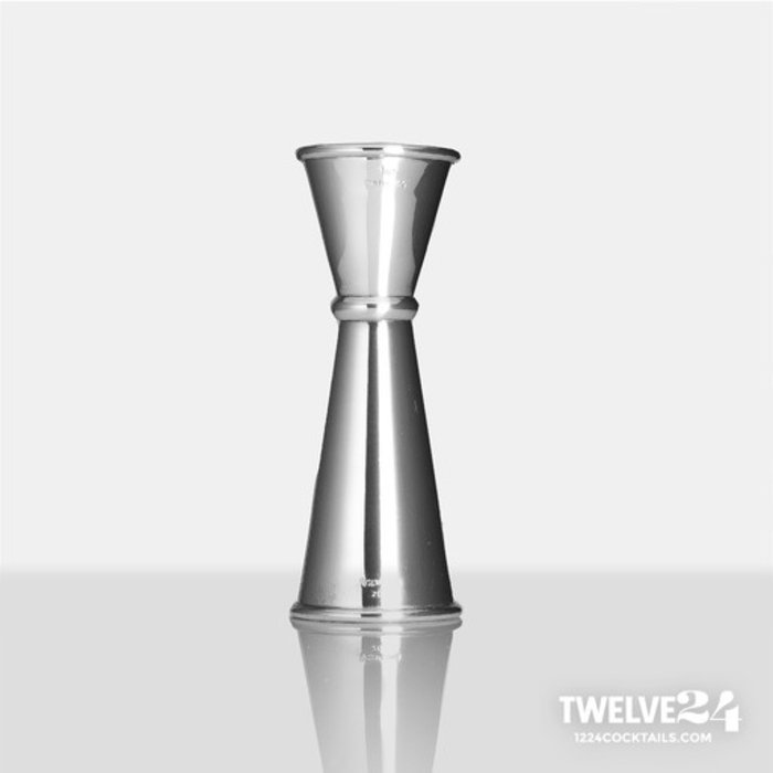 Twelve24 Japanese-Style Jigger, 1oz x 2oz Mirror Stainless