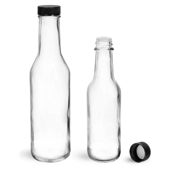 Clear Glass Traditional Bitters Bottles w/ dasher, 5 oz.