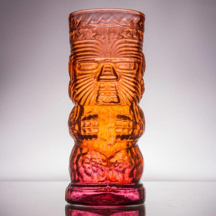 Hand-Blown Glass Tiki Mug, Warrior