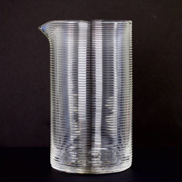 Hand-blown Mixing Glass, Striped pattern