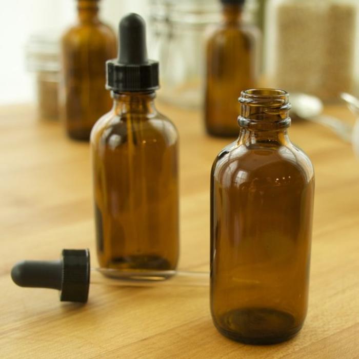 Amber Dropper Bottles, 2 oz.