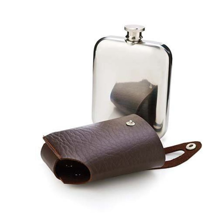 Admiral Flask, Stainless Steel w/ travel case, 5 oz.