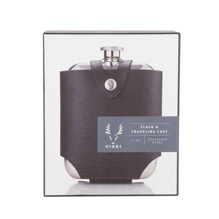 Admiral Flask, Stainless Steel w/ travel case.
